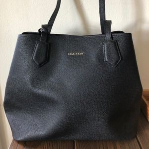 Cole Haan Leather Tote, Black